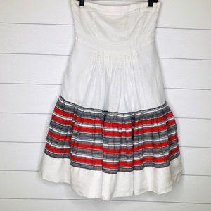 Anthropologie Floreat Strapless Linen Dress